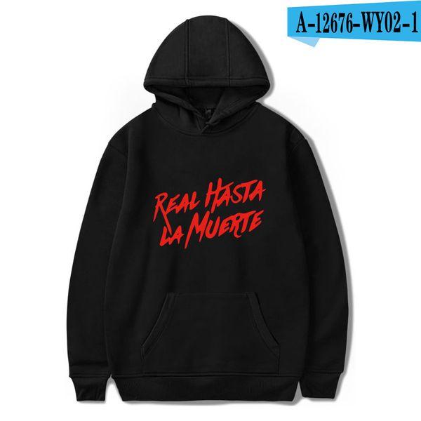 Real Hasta la Muerte BE THE LIGHT Sweatshirts Women Men Hoodies Hooded Streetwear Harajuku Hip Pop Clothes