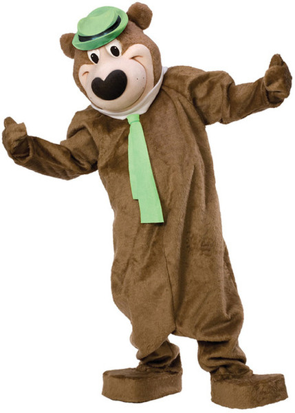 Professional custom Yoga Yogi Bear Mascot Costume cartoon Mr. teddy bear animal character Clothes Halloween festival Party Fancy Dress