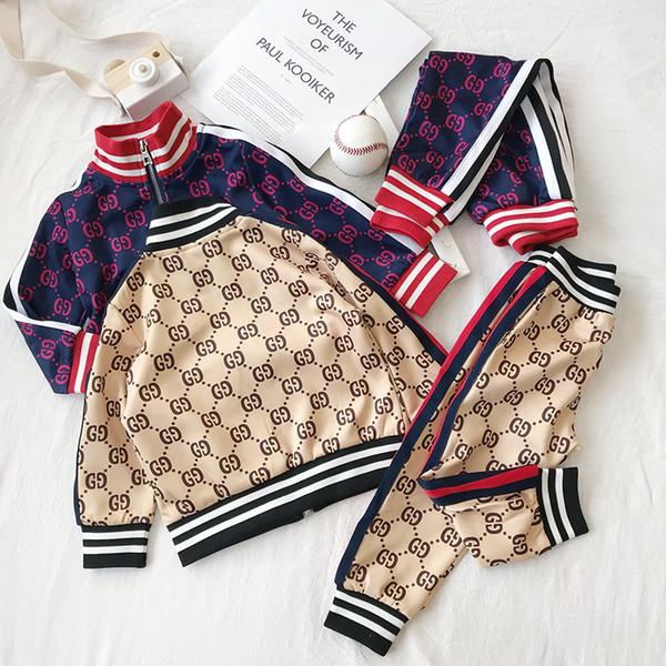 Vêtements de bébé pour les enfants Sport Costume Printemps Automne Set Vetement Garcon Veste bébé + pantalon tout-petits Vêtements pour la livraison gratuite