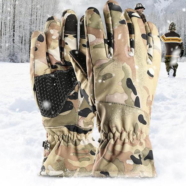 2шт теплые Сноуборд перчатки снегоход мотоцикл езда сенсорный экран перчатки