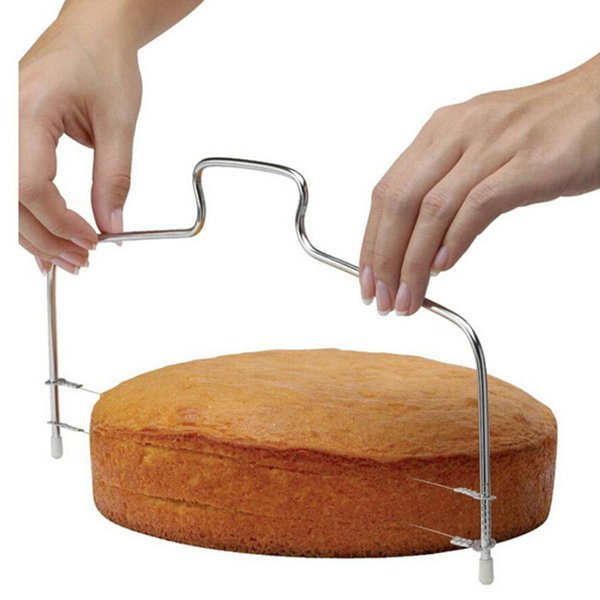 1PC Stainless Steel Wire Slicer Cake Cutter Bread Cutting Leveller Decorating Divider Slicer Tool Cooking Tool Kitchen Tools