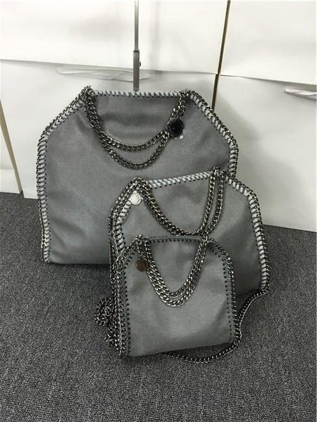 809 styles W37cm * H36 cm* D8cm 17 color Women's fold over 3 Chain big size Tote shoulder Bags Measurement :