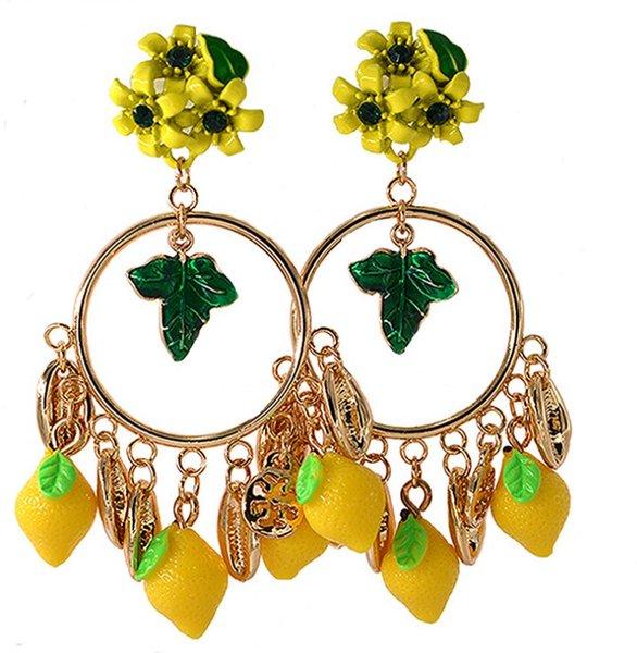 Earrings New Exaggerated Vintage Earrings Cherry Pineapple Baroque Big Earrings Wholesale