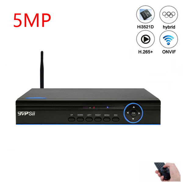 5mp CCTV System Blue panel Camera Hi3521D Xmeye 4 Channel 4CH/8CH 8 Channel 6 in 1 Hybrid XVI CVI TVi NVR AHD CCTV DVR