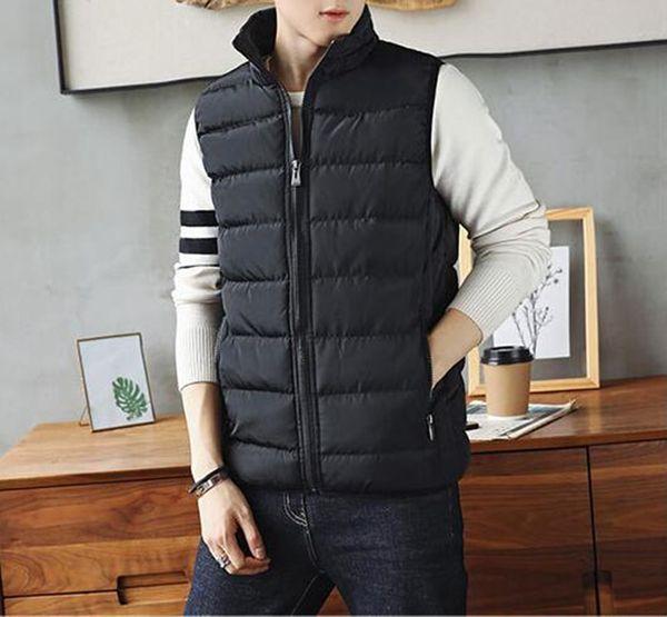 2018 New winter men Vest Slim Fit sleeveless jacket Male Waistcoat Autumn casual vest plus size S- 5XL Windproof Warm Waistcoat