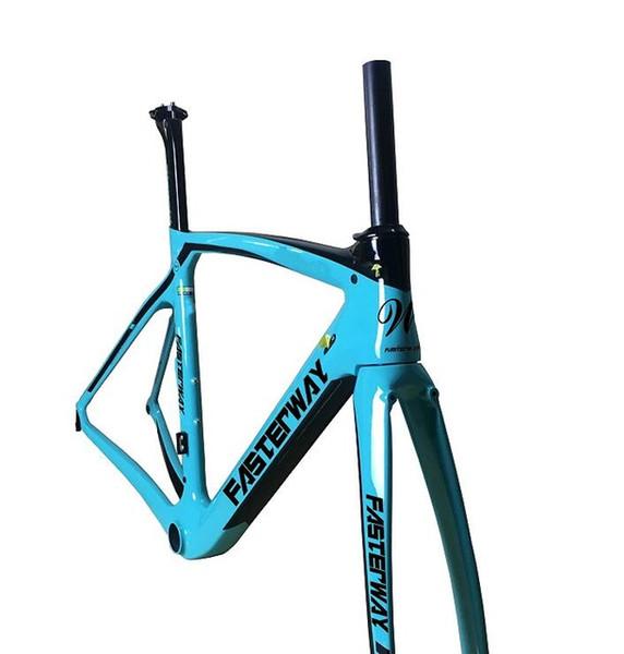 fasterway XR4 taiwan made carbon frame road bike T1100 UD dark blue black frameset:carbon Frameset+Seatpost+Fork+Clamp+Headset