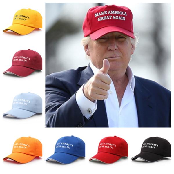 Nova moda 9 estilo Tornar a América grande novamente chapéu boné de esportes boné de beisebol do chapéu de Donald trump bandeira chapéu de festa ao ar livre T2C5041