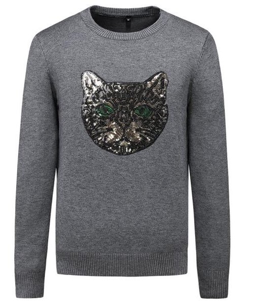 Мужская марка свитер Guccy большой размер шею пуловер модный бренд рубашка дизайнер рубашка тенденция тенденция спортивный свитер личности