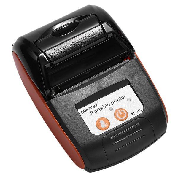 Goojprt Pt210 58MM Bluetooth para impresora térmica de recibos portátil Máquina inalámbrica para Windows androide US Plug