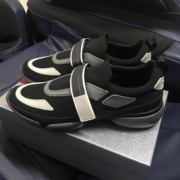 2018 Novo Designer Sneake Homem De Couro Sapatos Casuais Low Cut Sapatilha De Malha Respirável Ao Ar Livre Formadores Sapatos Runner 39-46 1303015