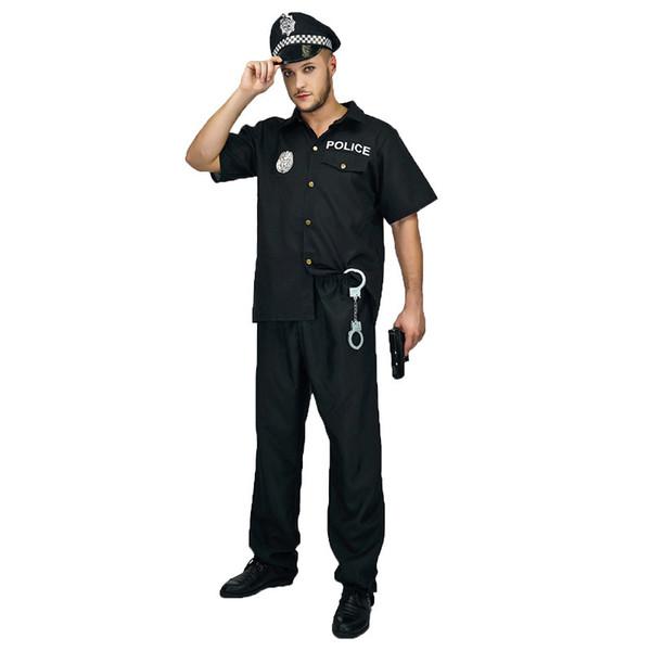 Sıcak Yetişkin Polis Kostüm Profesyonel CopBobby İmitasyon Fantezi Elbise Cadılar Karnavalı Parti Rol Giyim oyna İçin