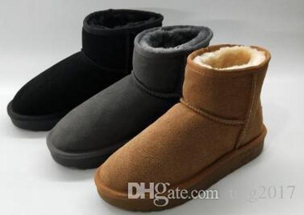 Bottes courtes hommes en cuir mat, plus velours chaud bottes coréennes occasionnels bottes de neige marée