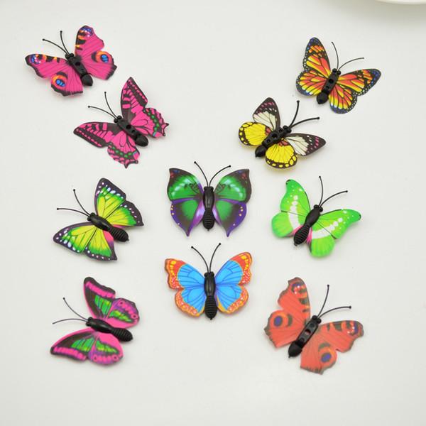 12pcs 3d PVC 4CM Wedding parede simulação Butterfly Home partido adesivos DIY Arte decorativa Decalques TV frigorífico brinquedos dos miúdos Multicolor