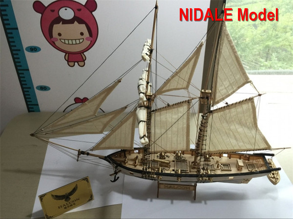 best selling New version Hobby ship model Kits Halcon 1840 CNC brass cannons luxurious sailboat model Offer English Instruction Y190530