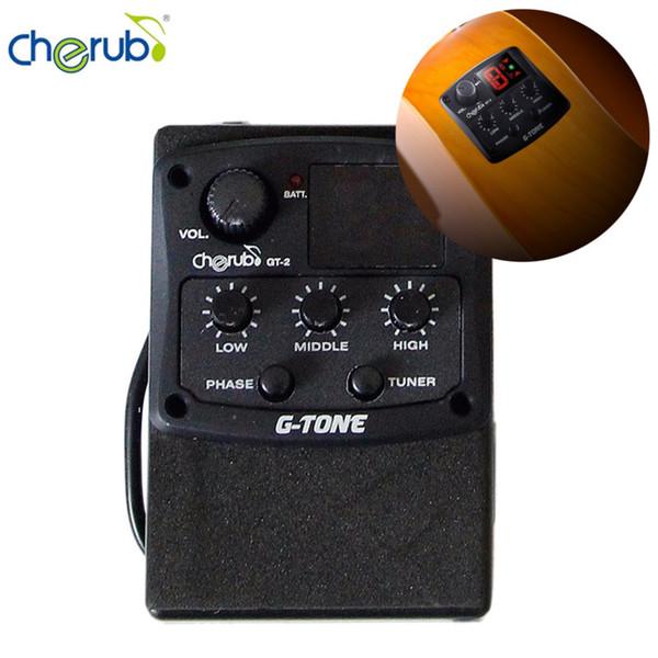 Cherub GT-2 Égaliseur 3 bandes G-Tone avec accordeur chromatique et support de guitare / effet de phase / guitare guitare piézo-céramique