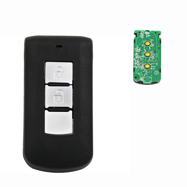 2 Button Car Smart Remote Key fob 433MHz 7952Chip For Mitsubishi + Emergency Key