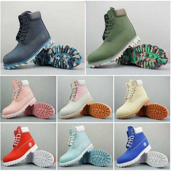 2019 Original Timberland fashion designer mens women winter boot Chestnut Triple Black womens work Martin snow combat boots bootie 36-45