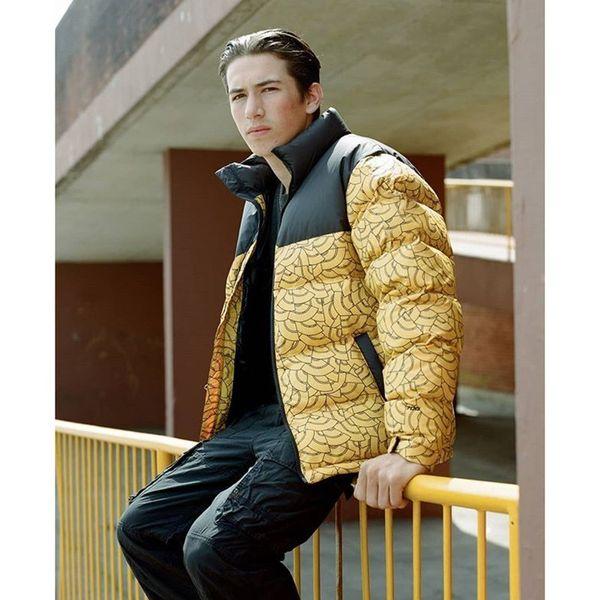 Moda-18FW NF Nuptse Down Jacket Classic Logo Print Abrigos Abrigo de pareja Ropa de abrigo de invierno Cálido Moda HFTTYRF011