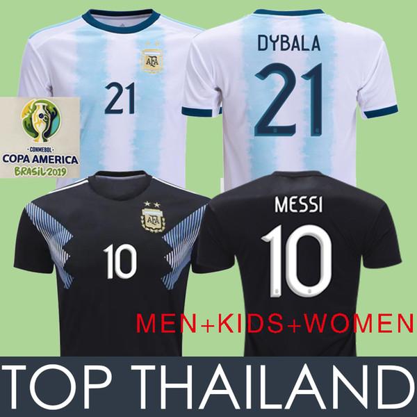 2019 Cop America Argentina MESSI Soccer Jerseys WOMEN 19 20 Argentina Football Shirt Camiseta de Futbol DYBALA HIGUAIN ICARDI KIDS Kits