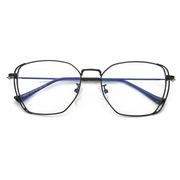 2019 Blue Light Blocking Glasses Brand Designer Goggles Metal Retro Myopia Computer Eyeglasses Korean Screwless Eyewear