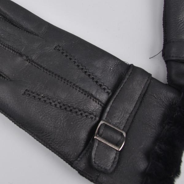 Fashion-Wool Genuine Leather Sheepskin Gloves Sheep Fur Mittens Elegant Warm Gloves