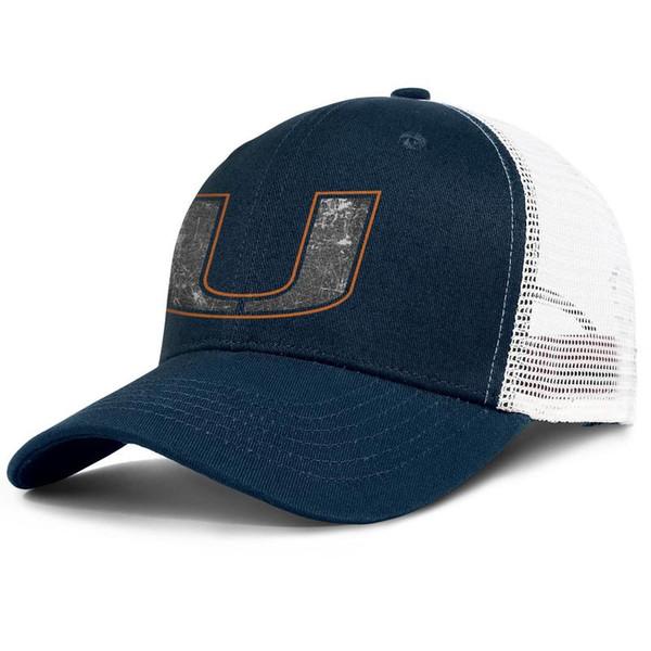 Miami Hurricanes football old Print logo designer for men and women mesh snapback Adjustable Fits trucker hatscool Ventilation Golf cap
