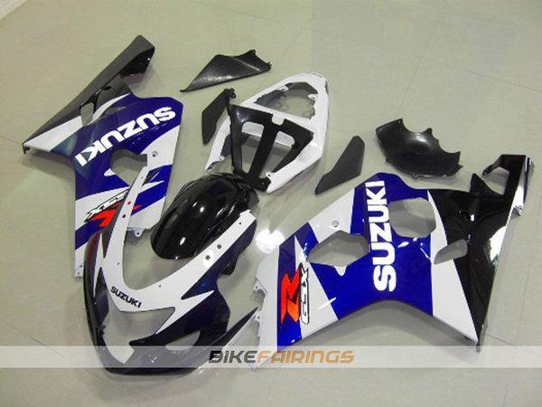 Yeni ABS plastik motosiklet marangozluk kiti için Suzuki GSXR 600 750 04 05 Fairing seti GSX-R600 R750 2004 2005 özel Ücretsiz ön cam