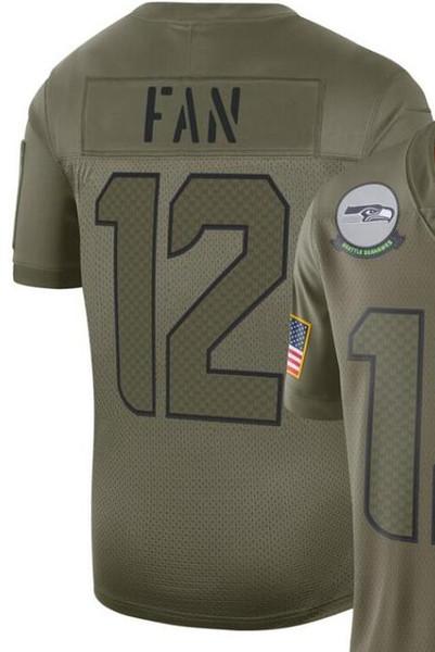 2020 Man Seattle 3 12 Jersey Gömlek Nakış ve% 100 dikişli 2019 Salute Hizmetleri Limited Jersey Amerikan Futbolu formaları 01