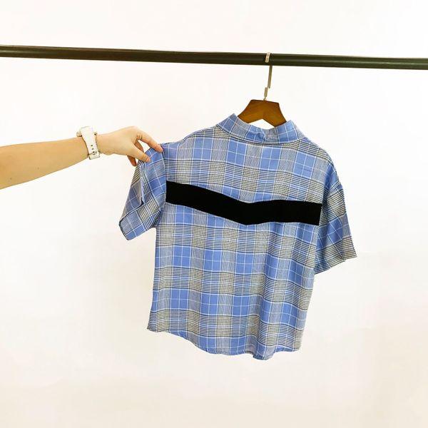 top popular Q2 Summer 2020 new children's clothing big children's short-sleeved shirt neutral plaid increased anti-Zou lapel jacket 2021