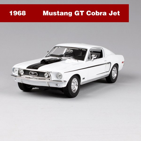 1968 Mustang GT White