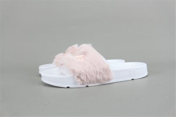Марка женская обувь меховые тапочки горячая распродажа новое поступление высокое качество бесплатная доставка цена от производителя розовый серый синий цвет меха удобная мода