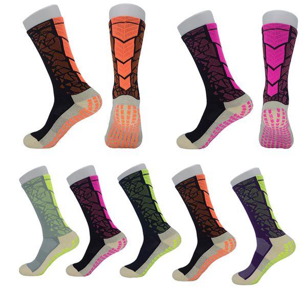 Fashion Basketball Socks Anti-Slip Long Stocking Breathable Football Soccer Socks Wear-resistant Athletic Sports Socks Hiking Running M117Y