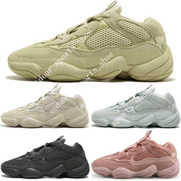 2019 Kanye West 500 Desert Rat Blush 500s Salt Super Moon Yellow 3M Utility Black para hombre zapatillas deportivas para hombre mujer zapatillas deportivas diseñador