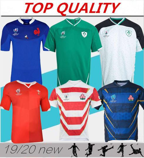 top popular 2019 Japan World Cup Wales red Rugby Jerseys 19 20 Fr World Cup national team blue rugby jerseys Size S-XXXL 2019