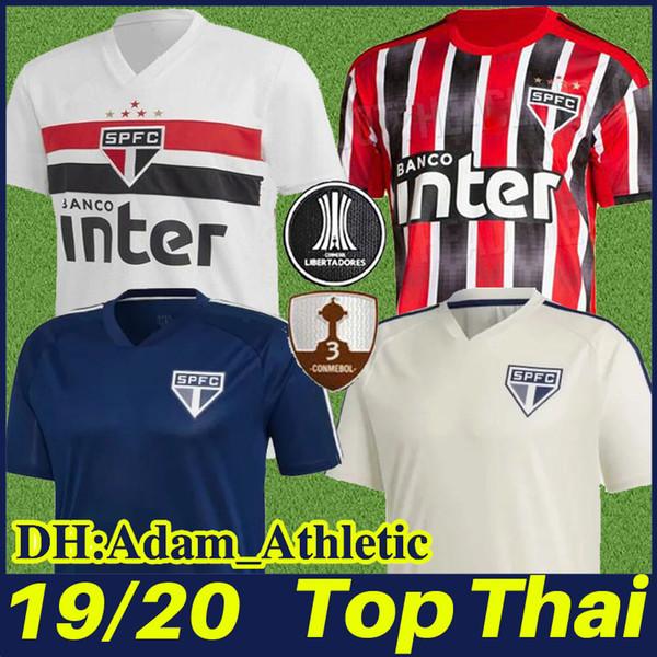 2019 2020 Sao Paulo FC futbol forması HELINHO PABLO PATO futbol formaları NENE PERES EVERTON beyaz ev futbol forması camiseta de SPFC