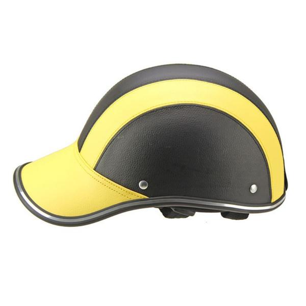 1 Cuoio Pc Moto Open del fronte caschi da bicicletta del motorino del casco protettivo Berretto da baseball Caschi caso della protezione 8 stili