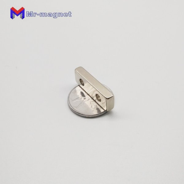 10pcs F30x10x5 mm hole 4mm N35 Strong Square NdFeB Magnet 30*10*5 mm countersunk hole 4mm Neodymium screw Magnets 30mm x 10mm x 5mm