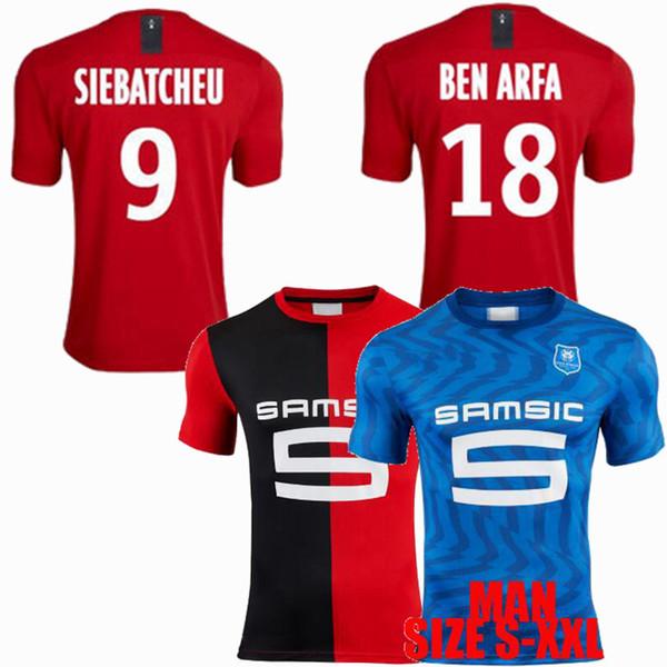 19 20 Stade Rennais soccer jersey SARR NIANG GRENIER SIEBATCHEU home away 2019 2020 football shirt S-2XL