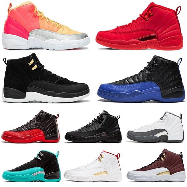 Femmes Hot punch 12s inverse Taxi chaussures de basket-ball Hommes 12 XII Royal Game Jumpman 23 Gym Rouge Michigan BORDEAUX hommes de sport Chaussures de sport
