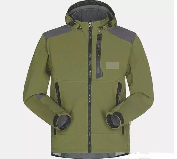 North Face Hombres Abrigo de invierno diseñador ocasional de la chaqueta con capucha de color sólido Atlética rompevientos Abrigo de tamaño asiático Envío-364