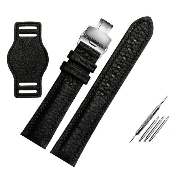 черная серебряная пряжка 18 мм