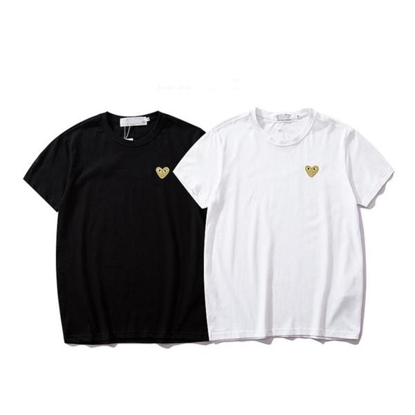 Hot sell summer men Tshirt fashion luxury Designer Tshirts casual Letter printing cotton street hip hop trend Little red heart T shirt