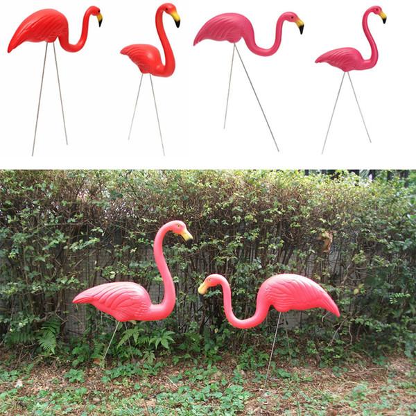 2 STÜCKE Outdoor Kunststoff Simulation Künstliche Flamingo Dekoration Für Garten Festival Party Hochzeit Villa Garten Dekor Dekor Ornamente