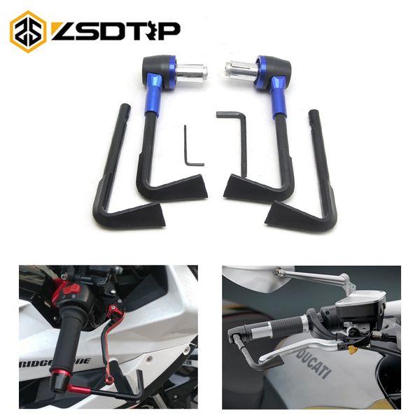 ZSDTRP 22mm Motor Da Motocicleta Freio Ajustável Alavancas de Embreagem Protetor de Escova Motocicleta Proguard Sistema Guarda CNC Proteger Guarda