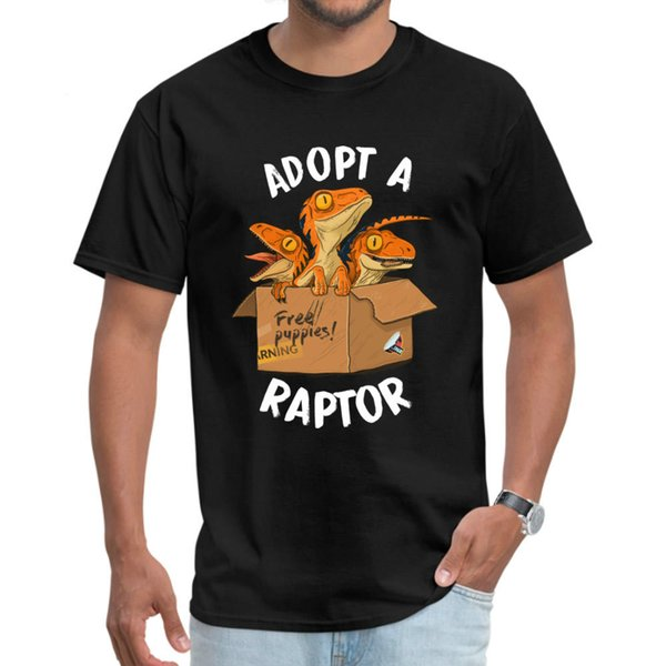 Adopt a Raptor T-shirt New Men's Tee List Funny Cartoon Baby T-rex Printing Top Love Father's Day Gift Clothes