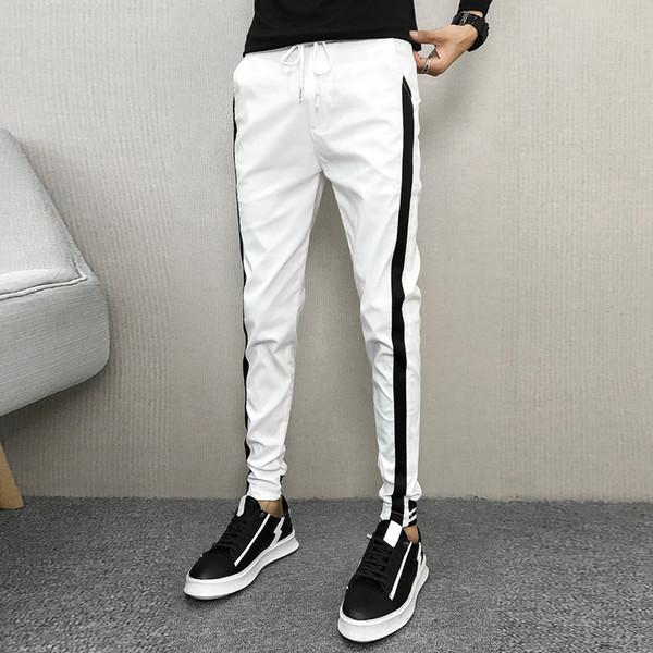 Korean Herbst Hosen Herren Marke Side Streifen Slim Fit Männer Jogger heißen Verkauf-beiläufiger Harem Pant Hip Hop Street Männer Kleidung