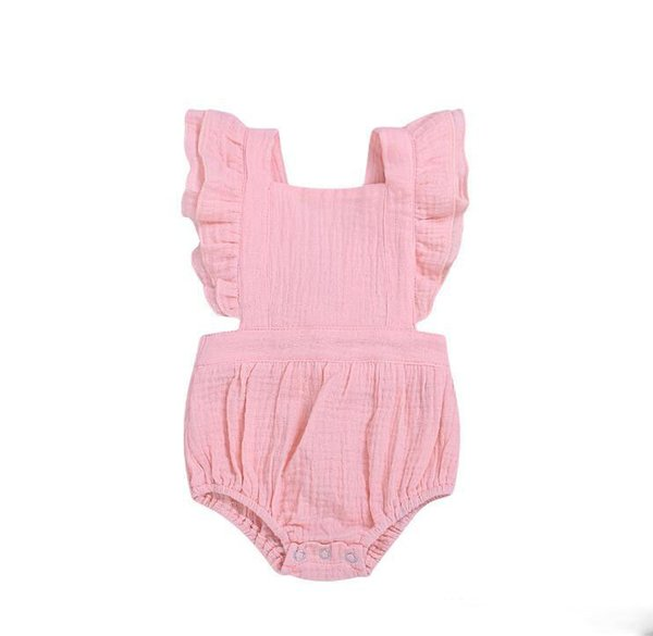 2019 baby girl clothes Rompers With Button Ins Ruffler Jumpsuits Clothing Toddler Boutique Summer Clothes Kids Newborn Baby Summer