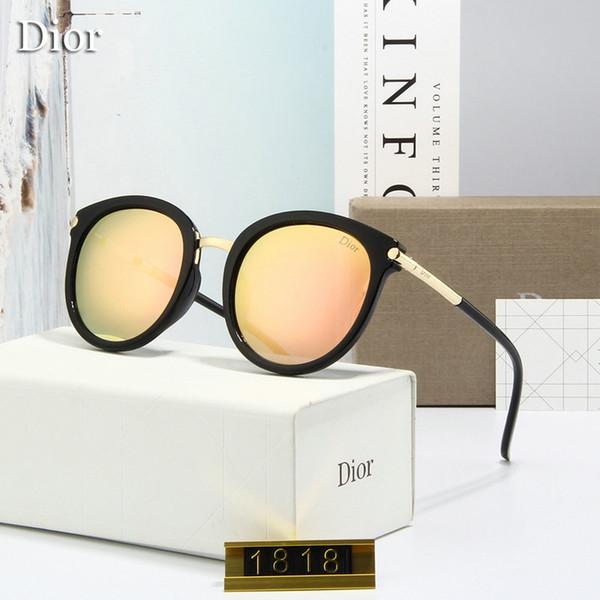 2019 fortschrittliche designer neue hochwertige personalisierte mode damen fahren sonnenbrille luxus sonnenbrille 5 farben optional mit counter pack