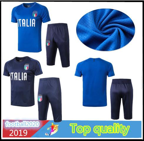Top quality 2019 Italy shorts football jersey casual wear 3/4 pants2019 latest DE ROSSI Soccer jersey outdoor sports training suit