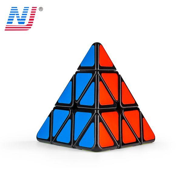Pyramid Magic Cubes ( steel ball version) Professional Glossy PE Sticker 3*3*3 Rubic Magic Cube Puzzle Neo Cubo Magico